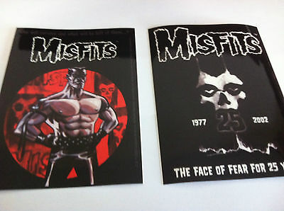 THE MISFITS 2-Pack of Stickers Cartoon & Face Of Fear NEW OFFICIAL MERCH Danzig