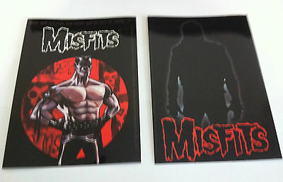 THE MISFITS 2-Pack of Stickers Cartoon & Silhouette NEW OFFICIAL MERCH Danzig