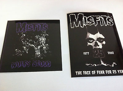 THE MISFITS 2-Pack of Stickers Wolfs Blood & Face Of Fear NEW OFFICIAL Danzig