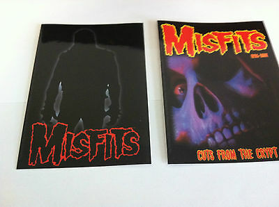 THE MISFITS 2-Pack of Stickers Silhouette & Cuts Crypt NEW OFFICIAL MERCH Danzig