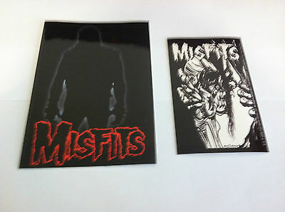 THE MISFITS 2-Pack of Stickers Silhouette & EyeBall NEW OFFICIAL Danzig