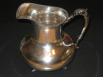 Antique Silver Plate Pitcher made by Reed & Barton of Taunton Mass