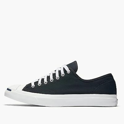 ... Mens Converse Jack Purcell Jack Ox Fashion Sneaker Black Canvas All  Sizes NIB 7 5995699f6