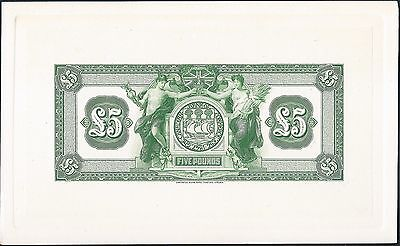 Canada 1921  Bank of Commerce £5 Jamaica Reverse Proof