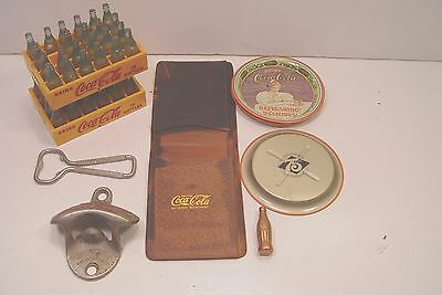 Coca Cola Collectors Lot.  Wallet, Openers, 75Th Tip Trays, & More.