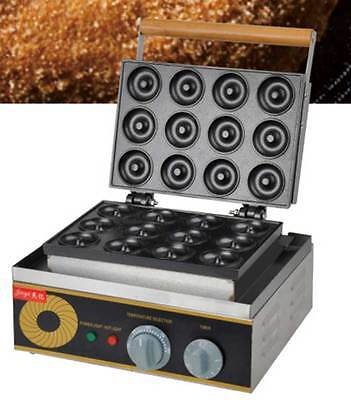 Commercial Electric Mini Round Donut Machine 12 Grids Donut Maker FYX-12A 220V