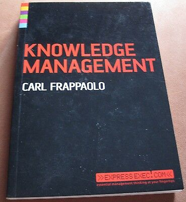 Knowledge Management by Carl Frappaolo - Paperback, Like New!!
