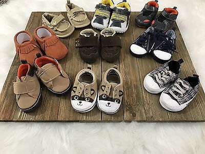 Baby Boy Lot of  9 Size 1 Cute Shoes