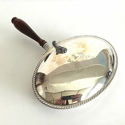 "Vintage F.B. ROGERS SILVER CO Silver Plated ""Silent Butler""/""Crumb Catcher/Tray"""