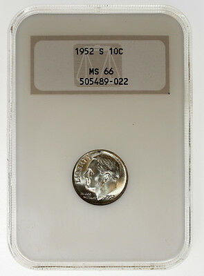 1952-S 10C Roosevelt Silver Dime NGC MS66