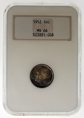 1952 10C Roosevelt Silver Dime NGC MS66