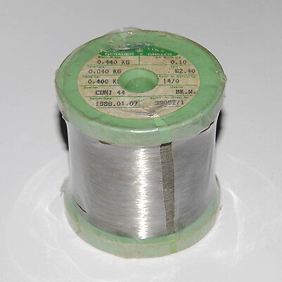 Constantan Wire 0.1mm 38 Gauge AWG Resistance Heating 62ohm/m=19ohm/ft 400g~14oz