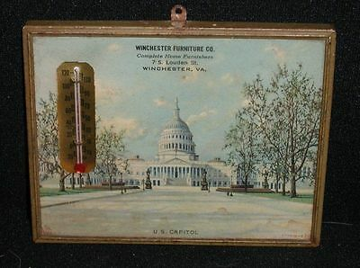 """Winchester Furniture Co. Advertising Thermometer~,Winchester,VA~5""""x 4"""""""