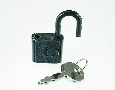 (10 pcs) Mini Padlock BLACK COLOR Small Tiny Box Lock with Keys