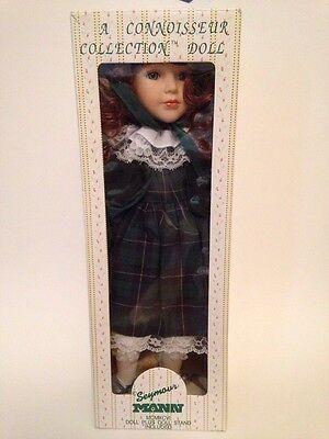 Seymour Mann- A Connoisseur Collection Doll/Stand, Curly Red Hair, Green Dress