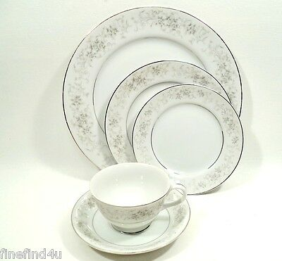 Camelot China CARROUSEL 1315 Japan 5 Pc Place Setting(s) Plates Cup Saucer Nice!