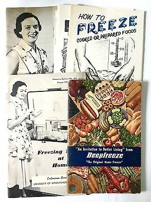 5 Vintage How To Home Freeze Freezing Foods Booklets Books