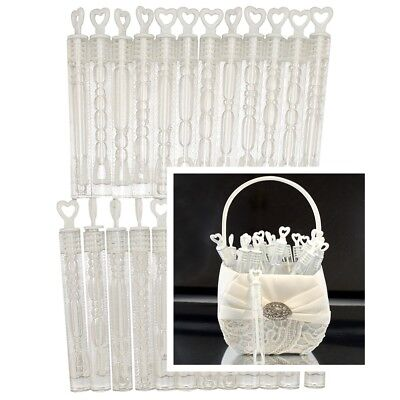 Wedding Bubbles x 24 Tube Wands with Liquid