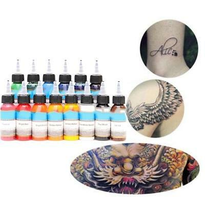 30ml Professional Tattoo Ink 14 Colors Set 1oz 30ml/Bottle Tattoo Pigment Kit