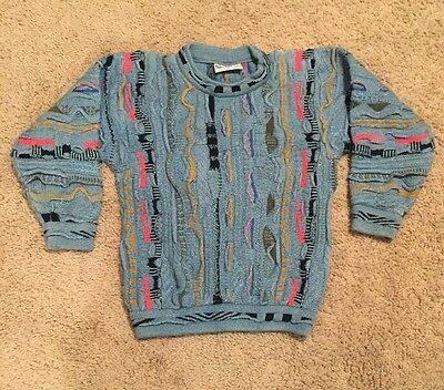 COOGI BLUES Australian Knit Kids Sweater~Child Size 6~Colorful Geometric Stripes