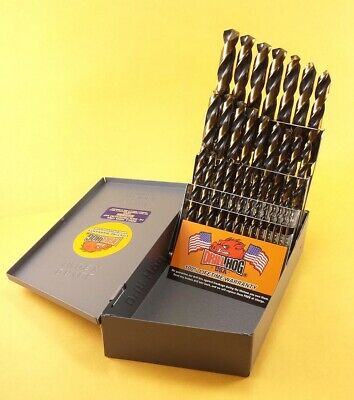 Drill Hog® 29 Pc Molybdenum M7 Drill Bit Set Index Moly 100% Lifetime Warranty