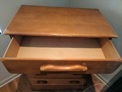 Antique 1930's Solid Wood 5 drawer Dresser +Nightstand $165 together or separate