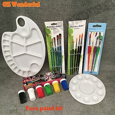 Non-Toxic Face Body Painting Kit Paint Atrist Brushes Brush Paint palette