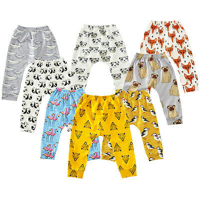 Newborn Baby Harem Pants Toddler Boys Girls Animal Printed Soft Cotton Leggings