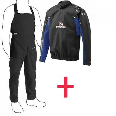 (Colour May Vary, Medium) - Dry Trousers AND Dry Cag Spray top. Crewsaver step i