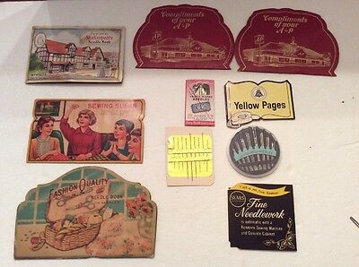 10 Antique Advertising Souvenir Sewing Pin Needle Books Booklets