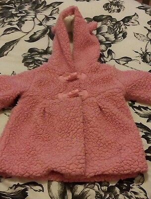 baby girls fluffy jacket 9-12 months excellent condition