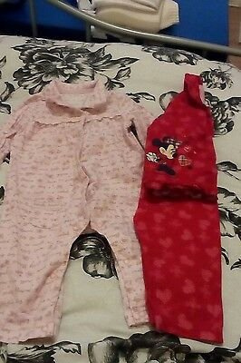 6-9 months baby girls pjs excellent condition