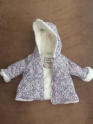 Gorgeous Baby Girls Debenhams Coat 0-3 Months