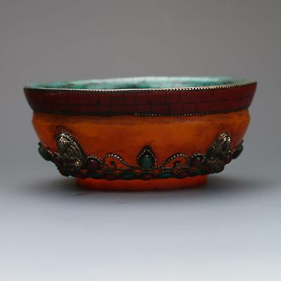 Collectible Unique Chinese Hand Work Turquoise Bowl