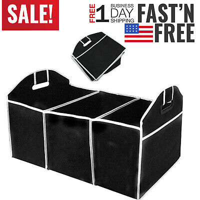 Suv Cargo Organizer >> Trunk Cargo Organizer Folding Caddy Storage Collapse Bag Bin For Car Truck Suv