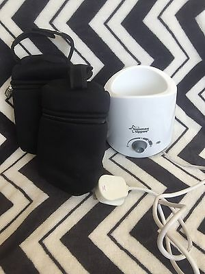Tommee tippee bottle warmer and two bags