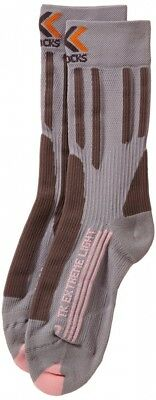 (FR : L  (Taille Fabricant : 39-40), - Grey / Pink) - X-Socks Trekking Extreme L
