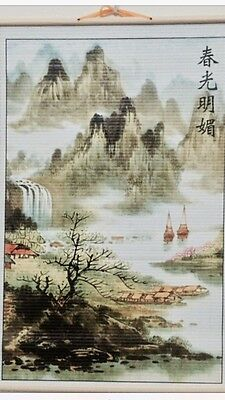 Paper Cane Wall Painting Art Scrolls (Landscapes)