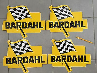 Lot X 4 Large Sticker Bardahl Vintage Autocollant Adesivo Grand Format