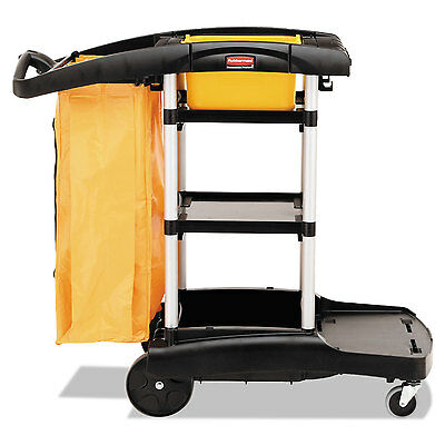 High Capacity Cleaning Cart, 21-3/4w X 49-3/4d X 38-3/8h, Black