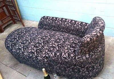 Edwardian Chaise Longue day bed arm chair FREE Manchester Delivery