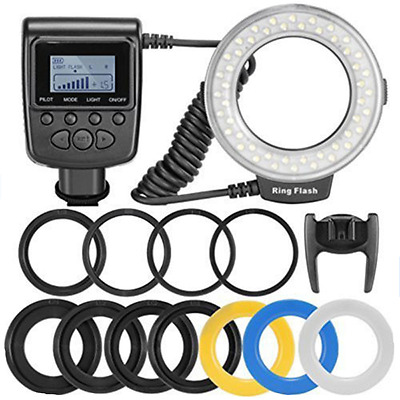 LED Ring Flash Light RF550D for Canon Nikon Olympus DSLR Camera