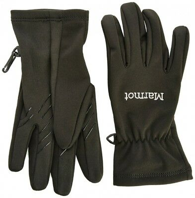 (Large, Black) - Marmot Men's Connect Softshell Glove. Free Delivery