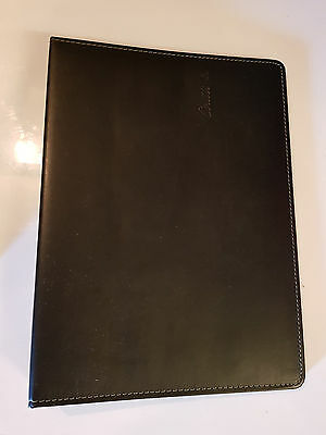 New Genuine Coutts Black A4 Meeting Folder Wallet - Ringbinder