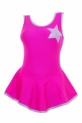Skating Dress - Pink HologramStar  / Toffee Pink Lycra - ALL SIZES AVAILABLE