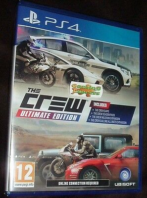 The Crew Ultimate Edition Playstation 4 PS4 NEW SEALED