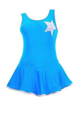Skating Dress - Silver HologramStar / Kingfisher Lycra - ALL SIZES AVAILABLE