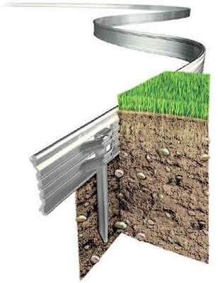 Rite-Edge Aluminium Lawn Edging Professional Edging With Strong Fixing Pins
