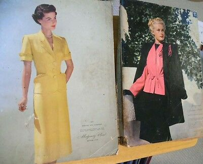 2 Vintage 1946 &1951  Montgomery Ward Spring and Summer Dept Store Catalogs