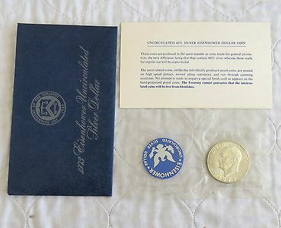 USA 1973 s EISENHOWER UNCIRCULATED SILVER DOLLAR - mint sealed pack